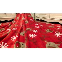China Super Soft Printed Coral Fleece Blanket / Coral Plush Blanket For Travel , Hotel wholesale