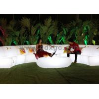 New modern Outdoor garden plastic LED lighting sofa set with remote control