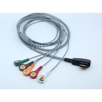 China DMS Holter ECG Patient Cable 5 / 7 / 10 Lead 19 Pin With 6 Month Warranty wholesale