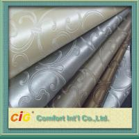China Classic Woven Knitted Backing PVC Artificial Leather For Upholstery wholesale