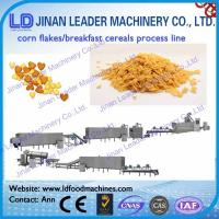 Cheap Corn flakes breakfast cereals snacks process line puffy snacks food making machine wholesale