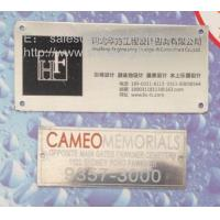 Cheap Custom stainless steel business sign plates, screw-on stainless steel plaques wholesale, wholesale
