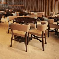 Buy cheap Brown Modern Restaurant Furniture Commercial Dining Tables And Chairs from wholesalers