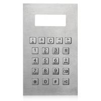 Cheap IP65 Stainless Steel Metal Numeric Keypad For Safedoor , Control Panel Keypads wholesale