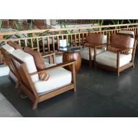 Buy cheap Island Resort Country Lobby Wood Frame Rattan Sofa Set With Cushion from wholesalers