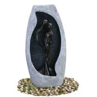 China Handmade Fiberglass Resin Large Outdoor Water Fountains With Lights , 53x21x107cm wholesale