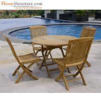 Buy cheap Folding Simple Restaurant Wood Club Chair For Outdoor Furniture Customized Size from wholesalers