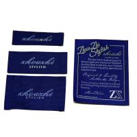 Cheap Gold Thread Clothing Woven Labels For Hats wholesale