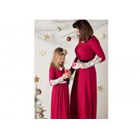 Cheap Red Mommy And Me Matching Outfits , Long Crochet Sleeve Sunshine Dress wholesale