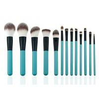 Cheap Eye Shadow Eyeliner Professional Makeup Brush Set With Leather Cosmetic Bag wholesale