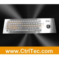 Cheap stainless steel keyboard with trackball for information kiosk, internet kiosk wholesale