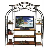 Cheap Steady and Durable Book Shelf Living Room TV Stand Rack Trolley with Iron Art wholesale