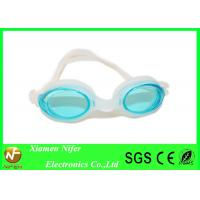 Cheap Rose Lens White  Frame Trap Silicone Swimming Glasses / Kids Swim Goggle wholesale