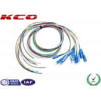 Quality 12 colors PVC Fiber Optic Pigtail Single Mode FTTH Fiber to The Home SC Type for sale