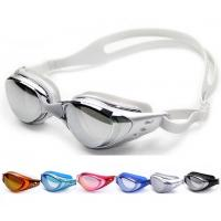 Cheap Genuine plating myopia water fog swim goggles glasses large frame male / female myopia swimming goggles wholesale