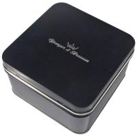 Cheap Empty Gift Tin With Black Color Printed ,Watch Packaging Box ,Looks Graceful And Great wholesale