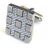 Cheap Fashion novelty cufflin blanks, color zircon cufflink wholesale