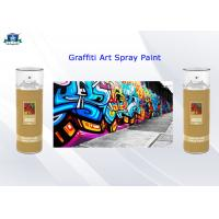 China Fast Drying Acrylic Art Graffiti Spray Paints 400ml Female Valve and Low / High Pressure wholesale