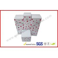 Cheap Lovely Cosmetic Packaging Boxes / Brand Paper box with White Corrugated Insert wholesale