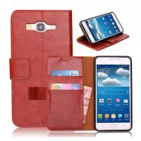 Cheap PU Samsung Galaxy Leather Case , Grand Prime G530 Leather Case, Credit Card Holder wholesale