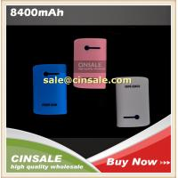 Cheap Big Book 8400mah Power Bank with LED Light External Battery Charger for Mobile wholesale