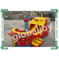 Cheap Inflatable Bouncer Pirates boat / Inflatable pirate ship bouncer wholesale