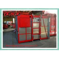 1 Ton Capacity Double Cage Construction Elevator Safety For Passenger And Material
