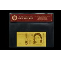Cheap Collection Gifts Germany 5 Mark 24 Carat Gold Foil Banknote With COA wholesale