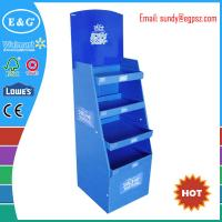 Cheap promotional custom book display stand shelf / notebook display rack / corrugated book display wholesale