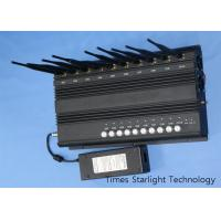 China 3G 4G LTE Cell Phone Jammer Wireless Signal Blocker With 10 Antenna RF Output wholesale