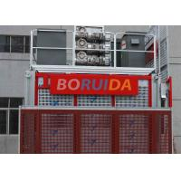Floor / Sliding Door Construction Material Lifting Hoist Single Or Double Cages