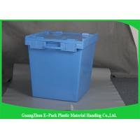 New PP Plastic Attached Lid Containers Logistic Space Saving Easy Transportation
