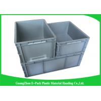 Standard Plastic PP Industrial Storage Bins , Reusable Plastic Stacking Boxes