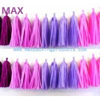 Cheap Sweet Pink&Purple Colors Paper Tassel String, tissue paper tassel garland wholesale
