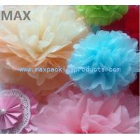 Cheap Colorful Paper Pom Poms Flower Balls for Hanging Wedding and Party Decoration wholesale