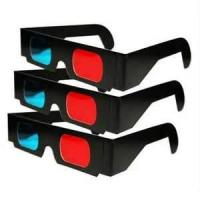 Cheap Custom red cyan anaglyph 3D Black Cardboard Paper Spectacles, 3D Paper virtual Glasses wholesale