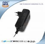 China CCTV Cameras EU Plug Power Adapter AC DC  Black 90V - 264V AC Input Voltage wholesale