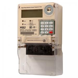 Single phase kilowatt hour meter , prepaid card watt hour meter with Keypad