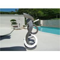 China Brushed Craft Stainless Steel Sculpture Art Home Decoration Swimming Pool Garden wholesale