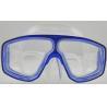 Cheap Blue Frame Diving Mask Underwater Diving Gear , deep sea diving equipment wholesale