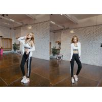 Lycra Material Casual Sport Pants High Waist Trendy Side Striped For Women
