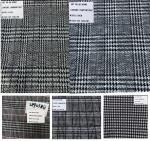 China Plaid Design Prince of Wales Stretch Rayon Polyester Fabrics wholesale