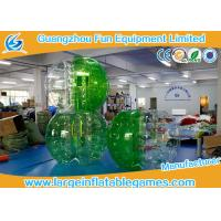 China Soft Handle / Safe Belt Inflatable Green half-color bumper ball  with SGS CE Certification wholesale