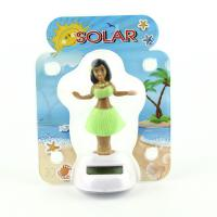 Solar Powered Dancing Hula Girl-Green Suit  (Colors Vary)  car dashboard toy