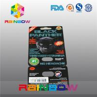 Cheap Black Panther Paper Card Printing Black Panther Sexual Pills Packaging Card With Blister Hole wholesale