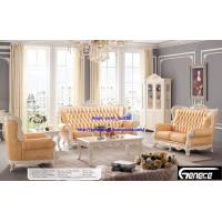 Cheap European Royal Living Room Sofa, Antique Genuine Leather Sofa Set Luxury Furniture wholesale