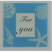 Cheap Glass Photo Coaster Spec 9*9*0.4cm AT14C601 wholesale