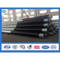 China Q420 5mm Thick 60Ft 70Ft Hot Dip Galvanized Electric Power Steel Poles wholesale
