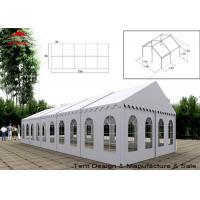 China UV Resistant White Commercial Event Tent With Windows , Span Width 3m - 40m wholesale