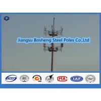 Buy cheap Mobile antenna mast above 95% Penetration rate , steel telegraph poles White from wholesalers